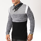 /achat-pulls/john-h-pull-avec-col-amplified-009-noir-gris-chine-blanc-162169.html