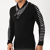 /achat-pulls/john-h-pull-col-amplified-27-noir-blanc-162170.html
