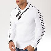 /achat-pulls/john-h-pull-col-amplified-27-blanc-noir-162172.html