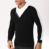 /achat-pulls/john-h-pull-avec-col-amplified-29-noir-blanc-162179.html
