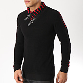 /achat-pulls/john-h-pull-col-amplified-008-noir-rouge-162185.html