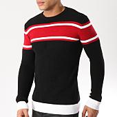 /achat-pulls/john-h-pull-004-noir-rouge-162197.html