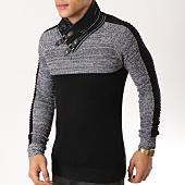 /achat-pulls/john-h-pull-avec-col-amplified-010-noir-gris-chine-162208.html