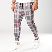 /achat-pantalons-carreaux/john-h-pantalon-carreaux-2290-gris-anthracite-blanc-rouge-162221.html