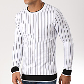 /achat-pulls/john-h-pull-011-blanc-noir-162230.html