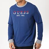 /achat-t-shirts-manches-longues/guess-tee-shirt-manches-longues-m91i24k84y0-bleu-marine-162309.html