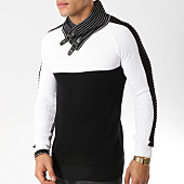 /achat-pulls/john-h-pull-avec-col-amplified-010-noir-blanc-162237.html