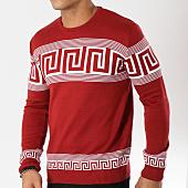 /achat-pulls/john-h-pull-42-rouge-blanc-162242.html