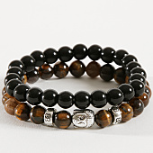 /achat-bracelets/california-jewels-lot-de-2-bracelets-tigers-eye-buddha-noir-marron-162373.html