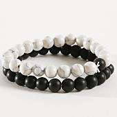 /achat-bracelets/california-jewels-lot-de-2-bracelets-b905-noir-blanc-162374.html