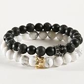 /achat-bracelets/california-jewels-lot-de-2-bracelets-b920-noir-blanc-162375.html