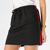 /achat-jupes/girls-only-jupe-femme-avec-bandes-v954-noir-rouge-162391.html
