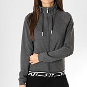 /achat-vestes/only-veste-zippee-femme-luna-gris-anthracite-chine-noir-blanc-162389.html