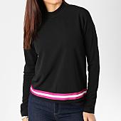 /achat-t-shirts-manches-longues/vero-moda-tee-shirt-manches-longues-femme-avec-bandes-sira-noir-blanc-rose-162398.html
