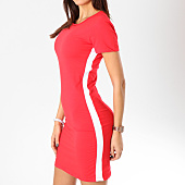 /achat-robes/girls-only-robe-femme-avec-bandes-322-rouge-blanc-162537.html