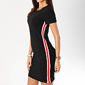 /achat-robes/girls-only-robe-femme-avec-bandes-322-noir-rouge-blanc-162538.html
