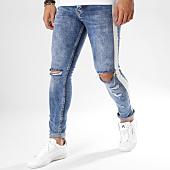 /achat-jeans/classic-series-jean-slim-troue-avec-bandes-ulysse-bleu-denim-blanc-162534.html