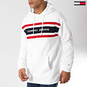 /achat-sweats-capuche/tommy-hilfiger-jeans-sweat-capuche-fleece-5535-blanc-162491.html