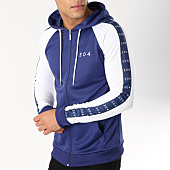 /achat-sweats-zippes-capuche/304-clothing-sweat-zippe-capuche-avec-bandes-brooklyn-bleu-marine-162743.html