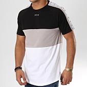 /achat-t-shirts-longs-oversize/304-clothing-tee-shirt-oversize-3-panel-avec-bandes-blanc-gris-noir-162744.html