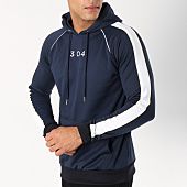 /achat-sweats-capuche/304-clothing-sweat-capuche-avec-bandes-storm-bleu-marine-162745.html