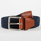 /achat-ceintures/jack-and-jones-ceinture-spring-woven-bleu-marine-marron-162683.html