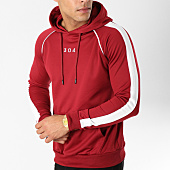 /achat-sweats-capuche/304-clothing-sweat-capuche-avec-bandes-storm-bordeaux-162885.html