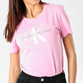 /achat-t-shirts/calvin-klein-tee-shirt-femme-monogram-logo-7963-rose-162894.html
