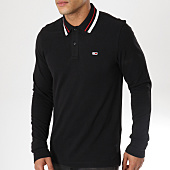 /achat-polos-manches-longues/tommy-hilfiger-jeans-polo-manches-longues-classics-5393-noir-162879.html