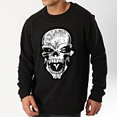 /achat-sweats-col-rond-crewneck/untouchable-sweat-crewneck-skull-noir-argente-162841.html