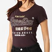 /achat-t-shirts/superdry-tee-shirt-femme-premium-goods-star-bordeaux-chine-dore-162981.html