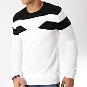 /achat-pulls/john-h-pull-38-blanc-noir-162995.html