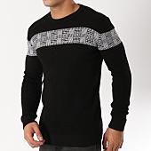 /achat-pulls/john-h-pull-016-noir-blanc-162998.html