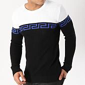 /achat-pulls/john-h-pull-jh014-noir-blanc-bleu-roi-163000.html
