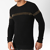 /achat-pulls/john-h-pull-avec-bandes-a-strass-012-noir-dore-163005.html