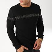 /achat-pulls/john-h-pull-avec-bandes-a-strass-012-noir-argente-163006.html