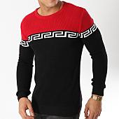 /achat-pulls/john-h-pull-jh014-noir-rouge-163031.html