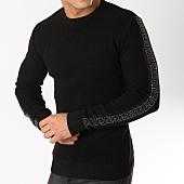 /achat-pulls/john-h-pull-avec-bandes-a-strass-013-noir-argente-163032.html