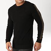/achat-pulls/john-h-pull-avec-bandes-a-strass-013-noir-dore-163033.html