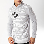 /achat-pulls/john-h-pull-avec-col-amplified-30-blanc-gris-camouflage-163035.html