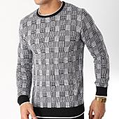 /achat-pulls/john-h-pull-017-blanc-noir-163038.html