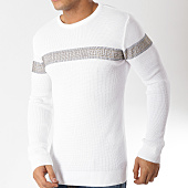 /achat-pulls/john-h-pull-avec-bandes-a-strass-012-blanc-dore-163044.html