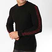 /achat-pulls/john-h-pull-avec-bandes-a-strass-013-noir-rouge-163048.html