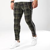 /achat-pantalons-carreaux/black-needle-pantalon-avec-bandes-18-f2514-vert-kaki-noir-163165.html