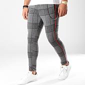 /achat-pantalons-carreaux/classic-series-pantalon-avec-bandes-18-f2516-gris-noir-163167.html