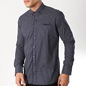 /achat-chemises-manches-longues/black-needle-chemise-manches-longues-3360-bleu-marine-blanc-163173.html