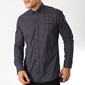 /achat-chemises-manches-longues/black-needle-chemise-manches-longues-3363-bleu-marine-marron-163175.html