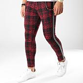 /achat-pantalons-carreaux/classic-series-pantalon-avec-bandes-18-f2514-bordeaux-noir-163180.html