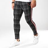 /achat-pantalons-carreaux/classic-series-pantalon-avec-bandes-18-f2514-gris-anthracite-noir-163181.html