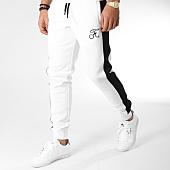 /achat-pantalons-joggings/final-club-pantalon-jogging-premium-avec-bandes-et-broderie-157-blanc-163260.html